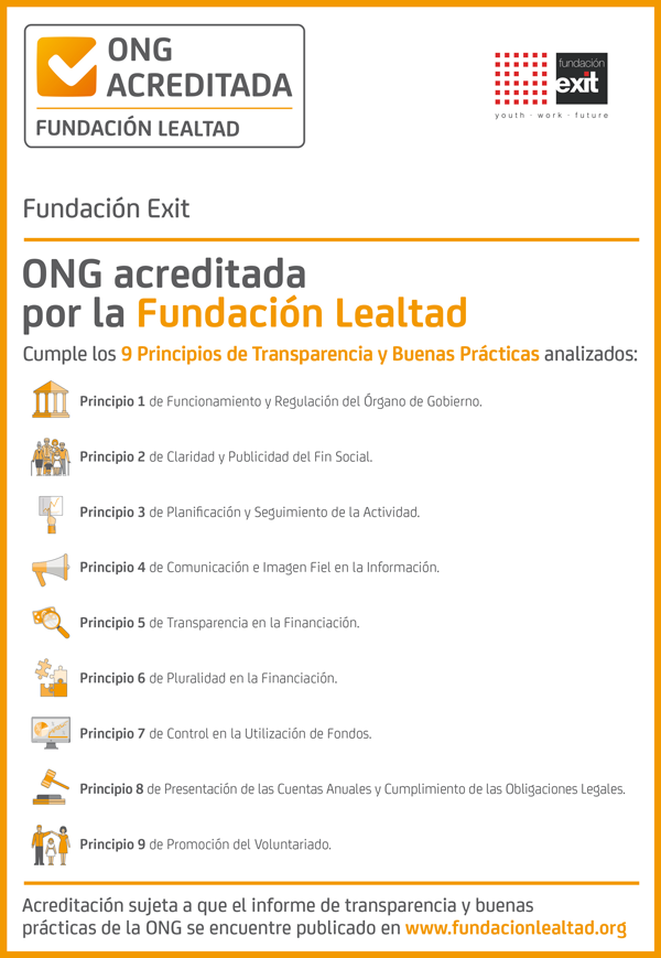 ONG acreditada por Fundación Lealtad